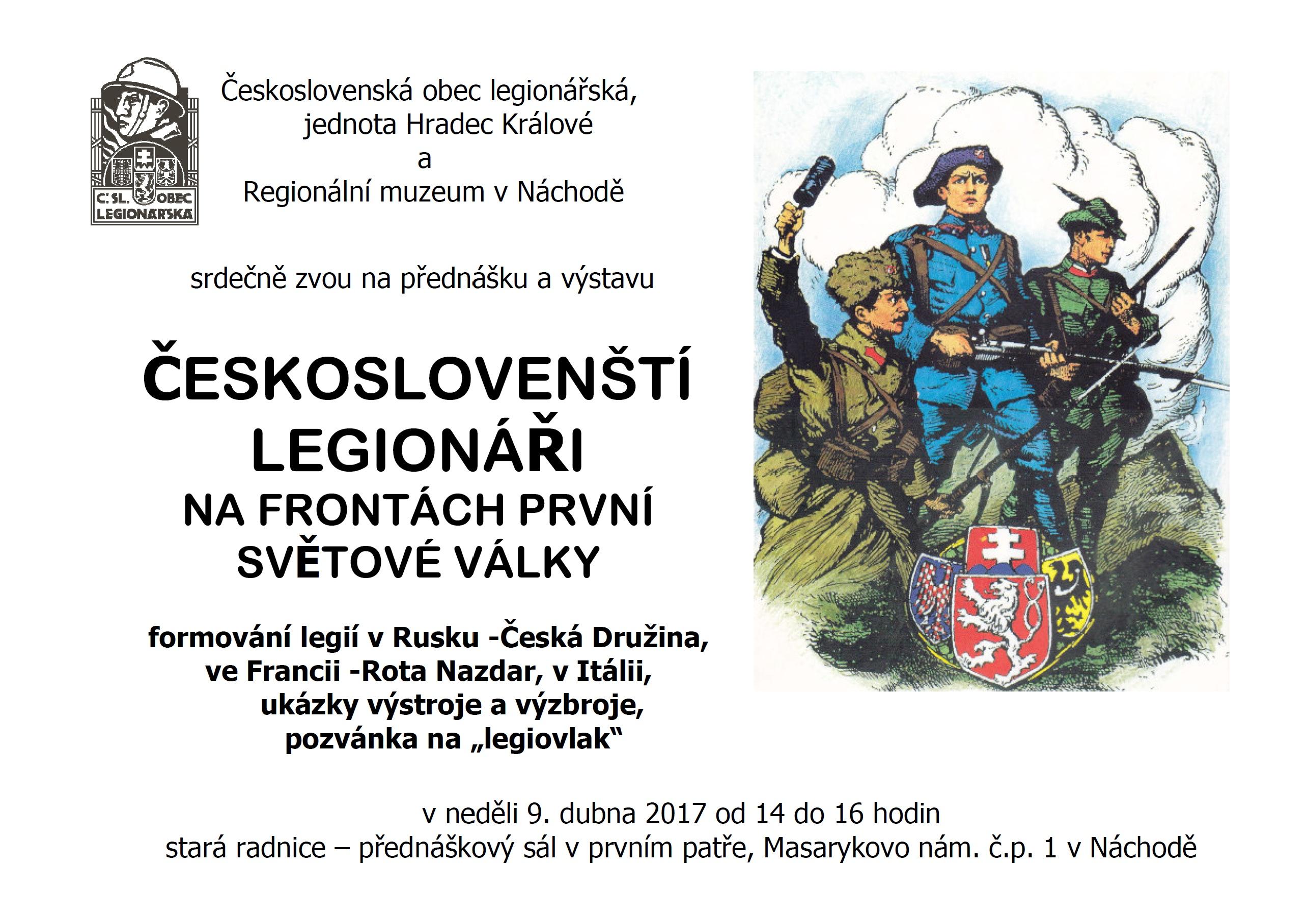 a594b5d8e9 Město Náchod - Kultura - ČESKOSLOVENŠTÍ LEGIONÁŘI NA FRONTÁCH PRVNÍ ...