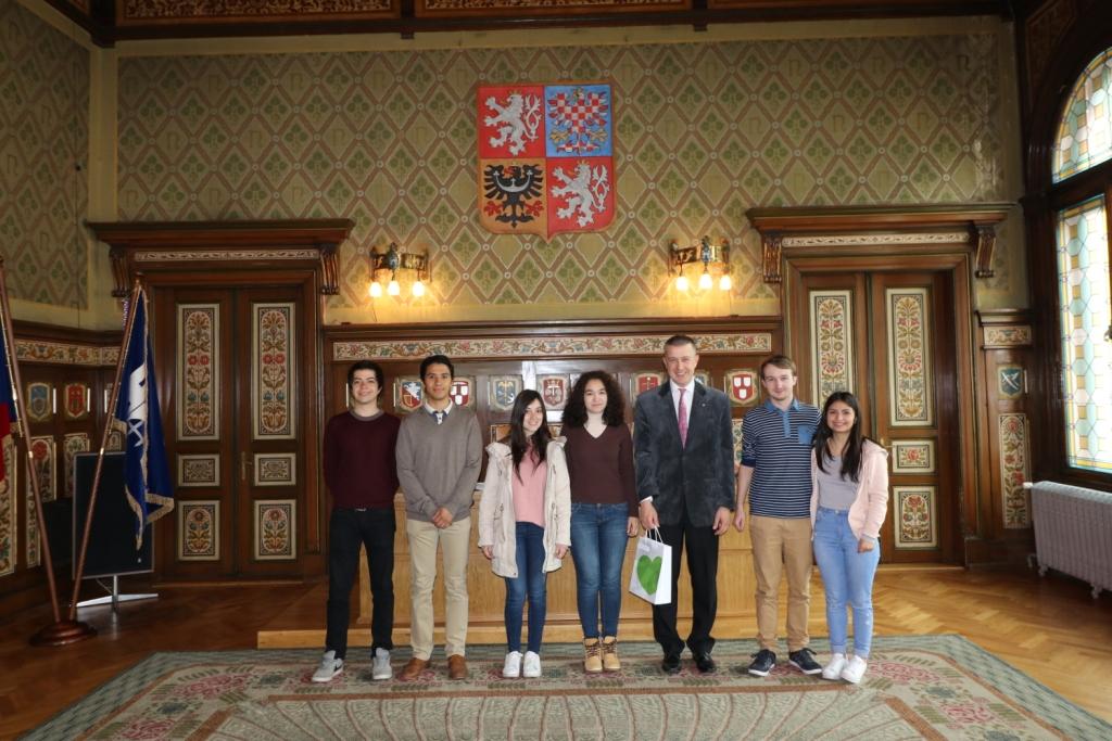 Návštěva mexické studentské delegace