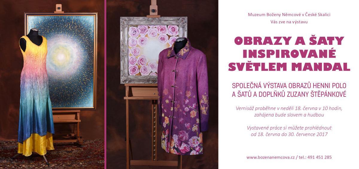 Pozvání na zajímavou výstavu - Obrazy Světlo mandal a šaty inspirované obrazy