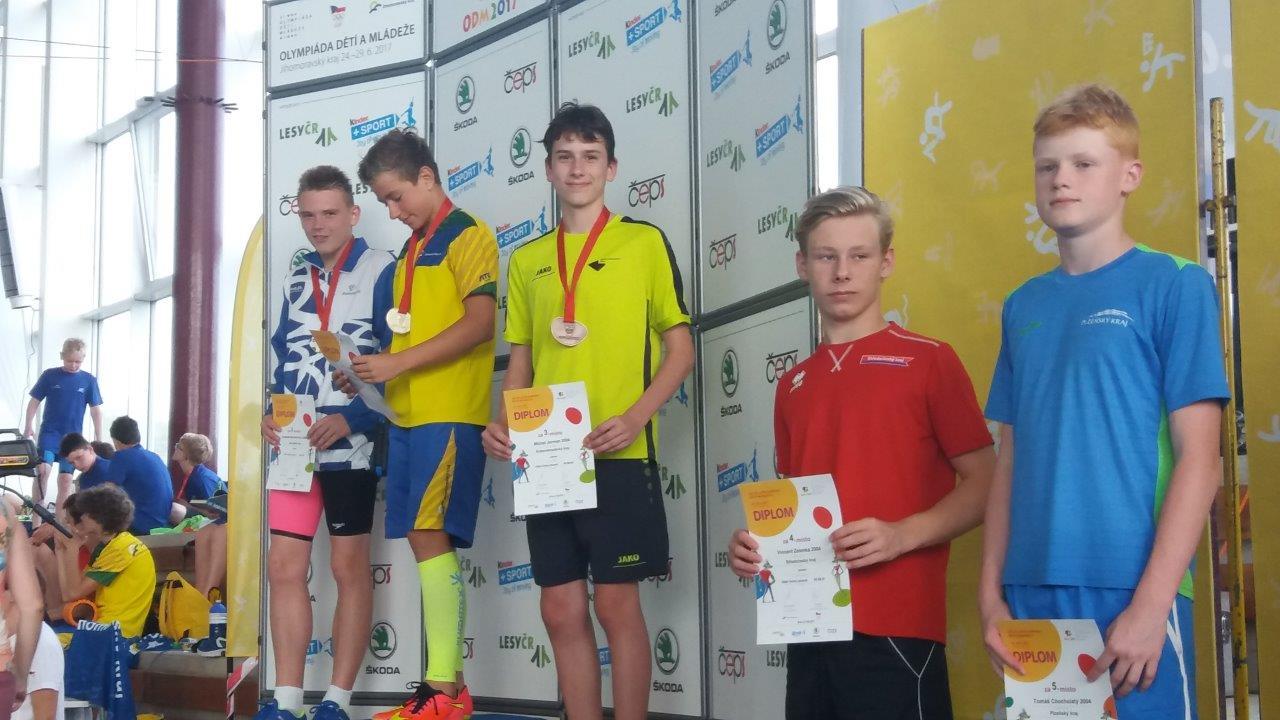 Jerman a Vrzáček bronzoví na Olympiádě dětí a mládeže