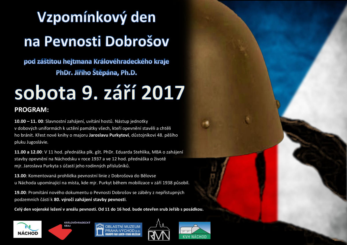 Vzpomínkový den na Pevnosti Dobrošov - sobota 9. září
