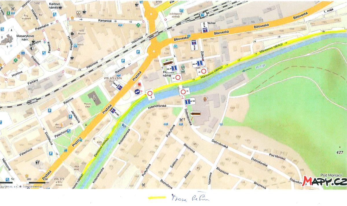 Dopravní omezení při běhu Hronov-Náchod