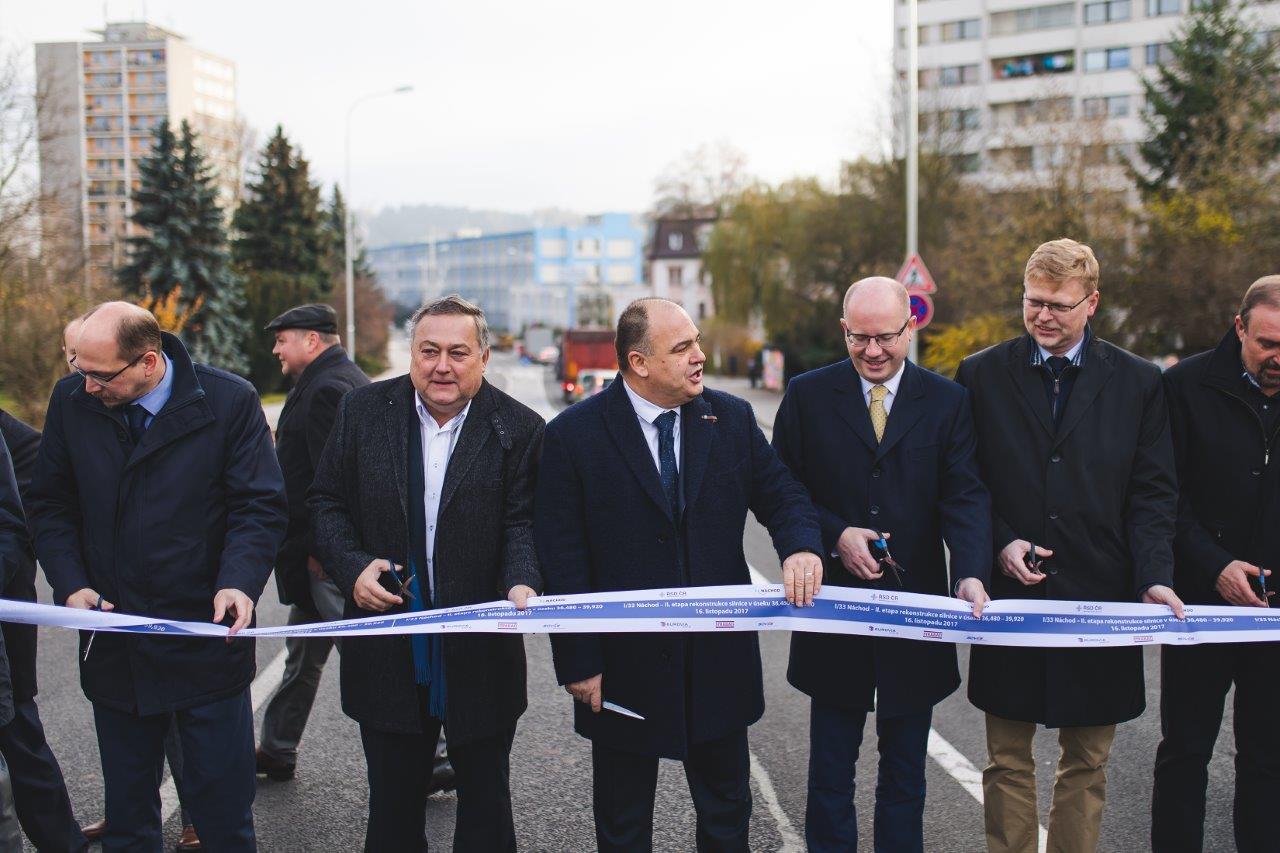 Průtah Náchoda 16. 11. 2017 otevřen, provoz jezdí v obou směrech
