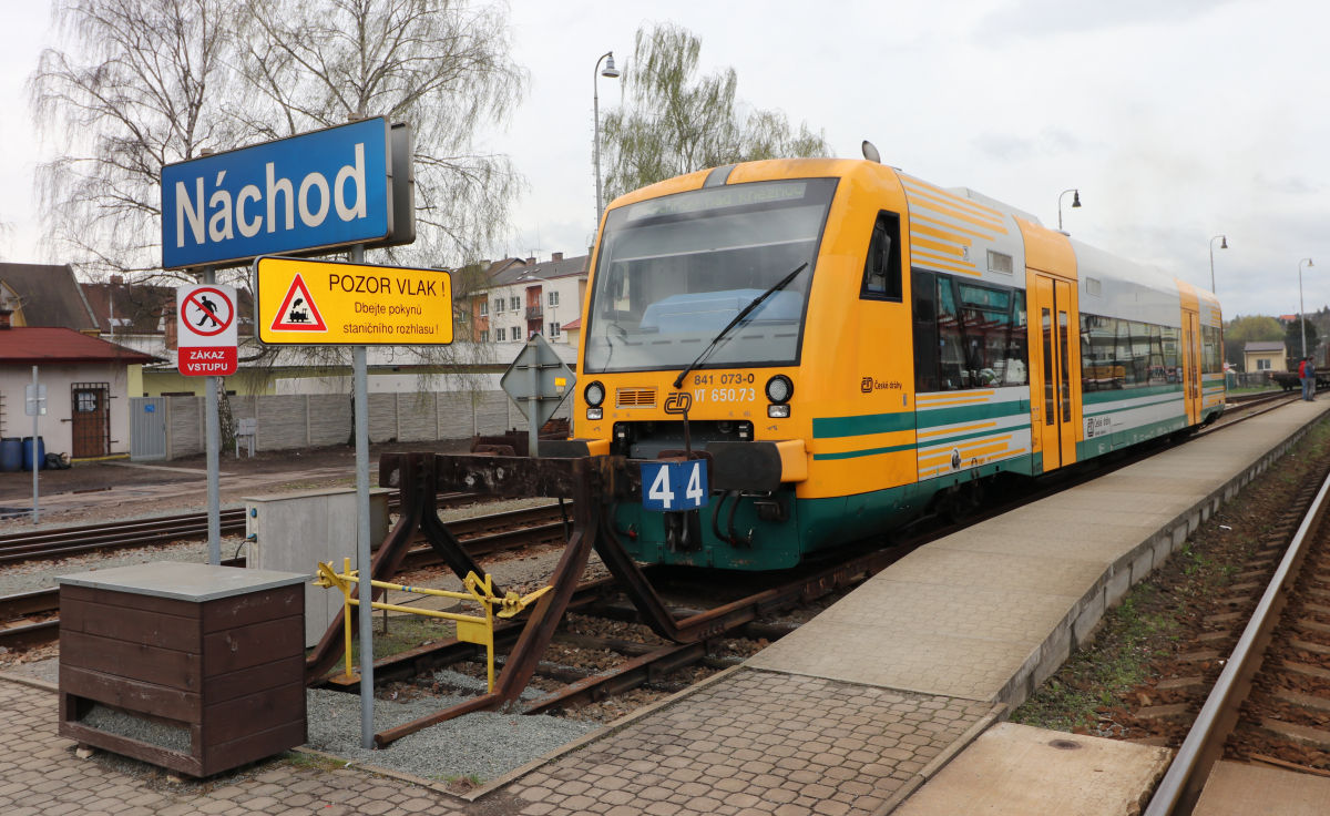 Výluka na trati 026 od 13.3. do 28.5.2019 v úseku Náchod - Police nad Metují a v úseku Náchod - Police nad Metují - Teplice nad Metují