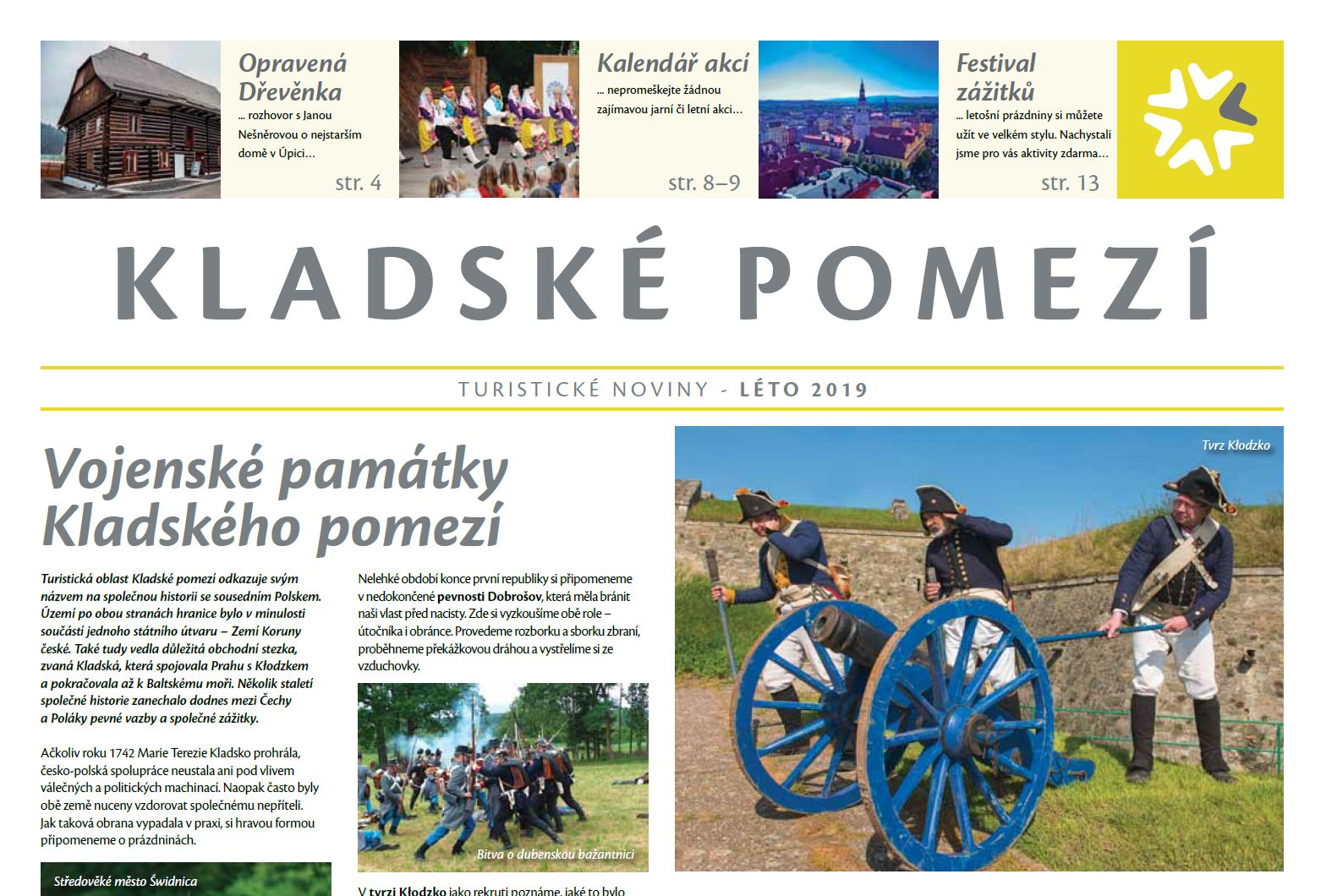 Vychází letní turistické noviny Kladského pomezí