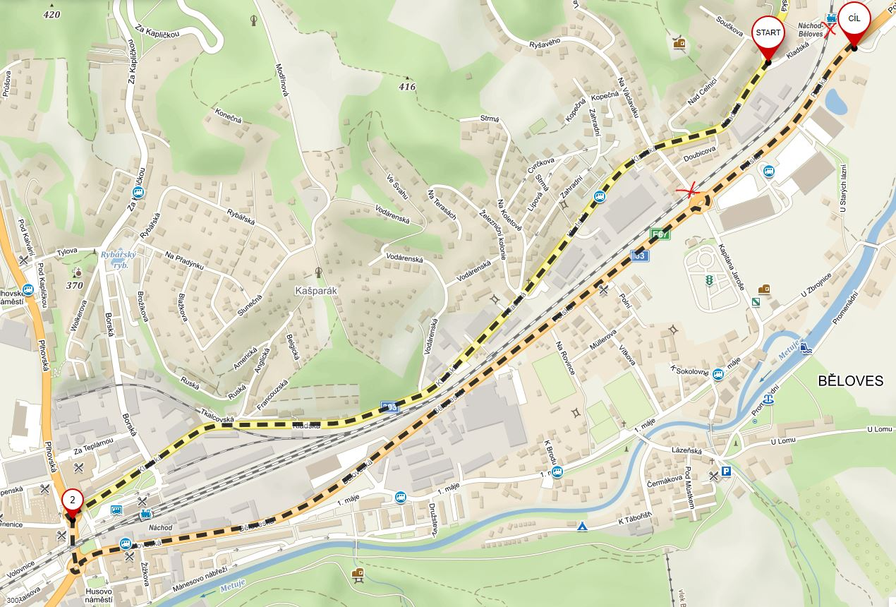 Upozornění na dopravní komplikace spojené suzavírkou železničních přejezdů v Bělovsi