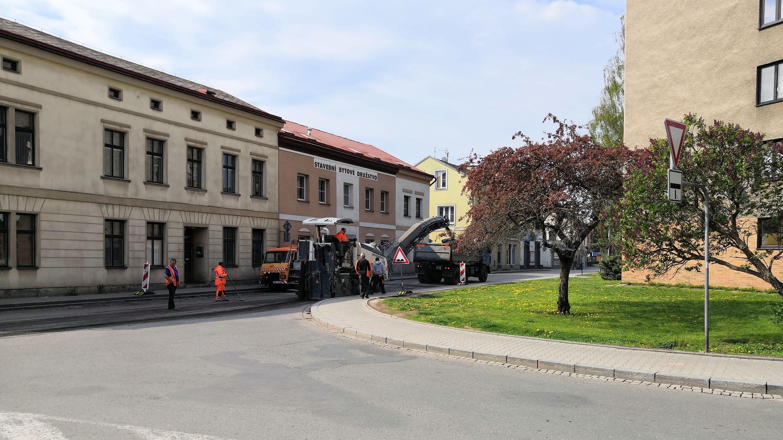 Částečná uzavírka v centru Náchoda – ul. Parkány x Poštovní