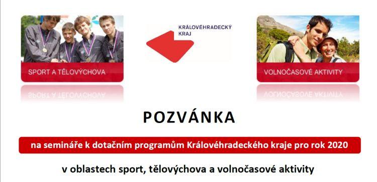 Semináře k dotačním programům Královéhradeckého kraje pro rok 2020