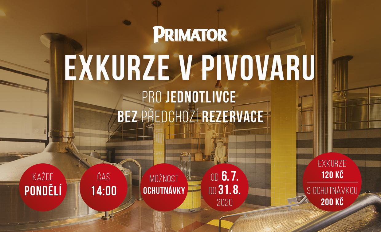 Zažijte PRIMÁTOR - Exkurze v náchodském pivovaru