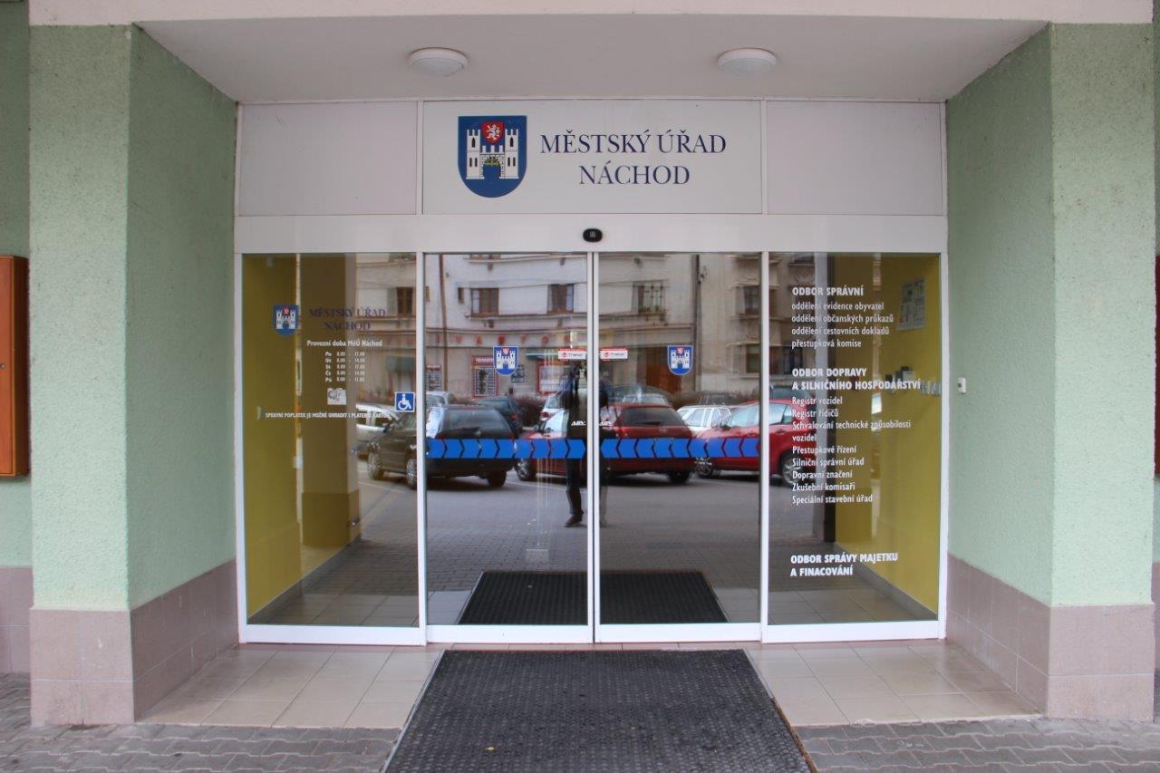 Provoz Městského úřadu vNáchodě vdobě nouzového stavu