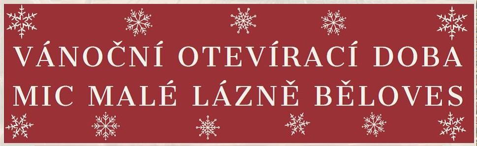 Otevírací doba poboček Městského informačního centra o vánočních svátcích