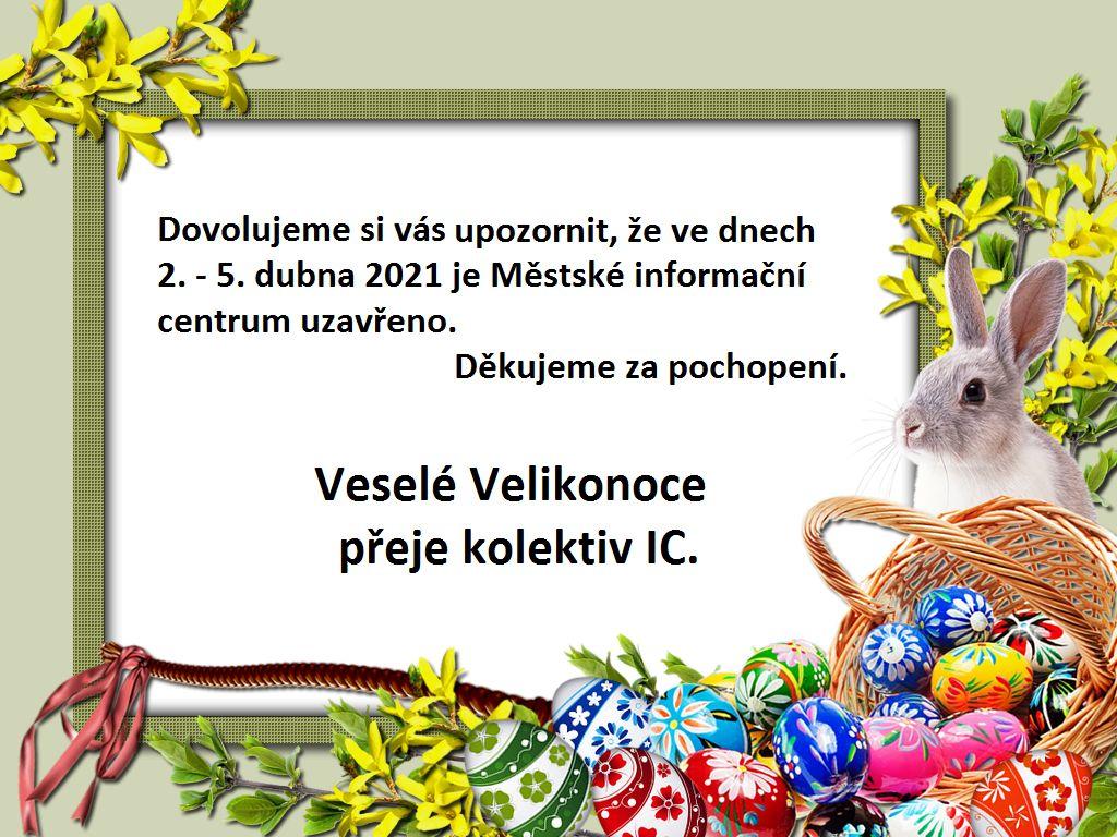 Velikonoční svátky – provoz infocentra
