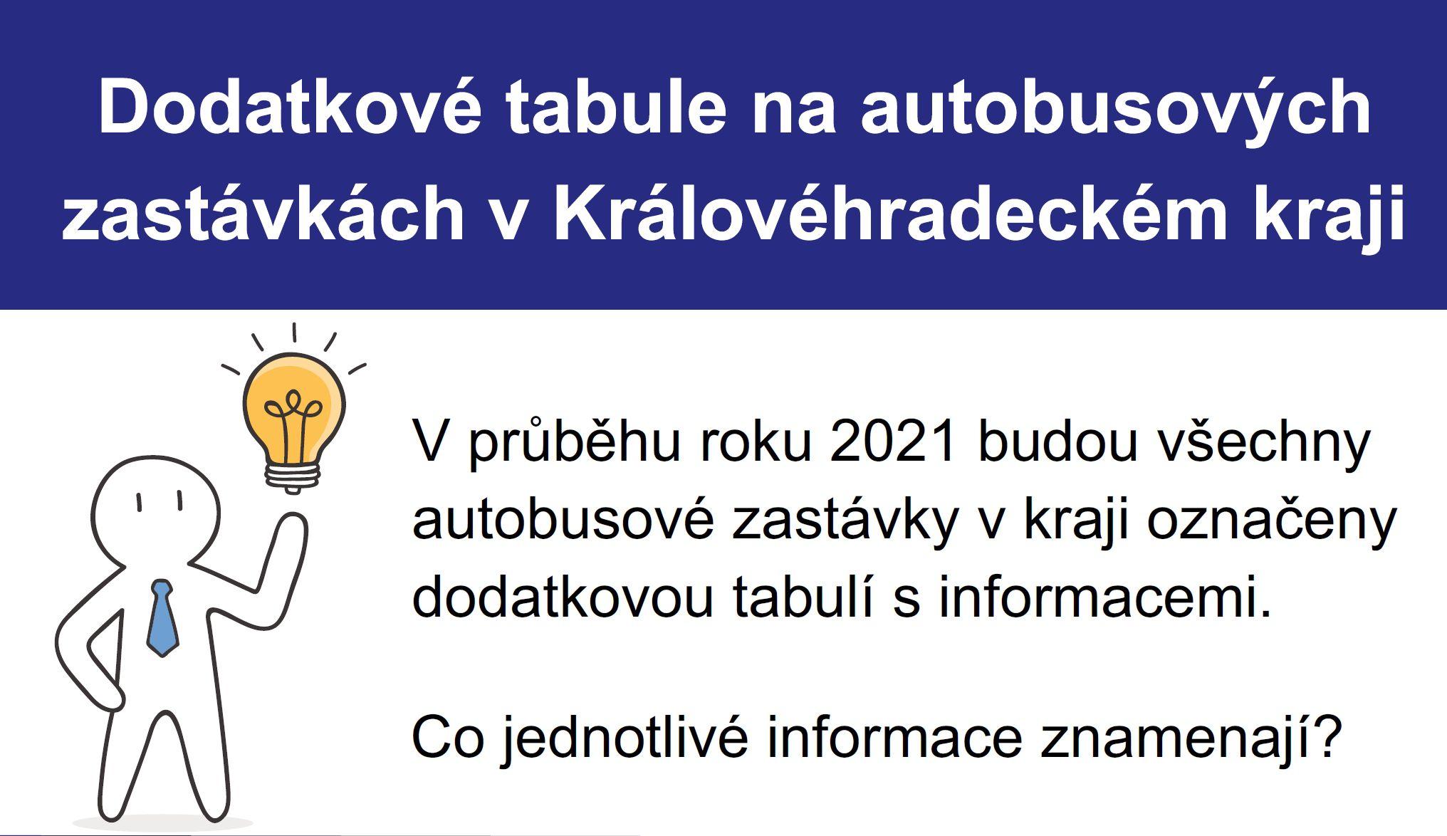Dodatkové tabule na autobusových zastávkách v Královéhradeckém kraji